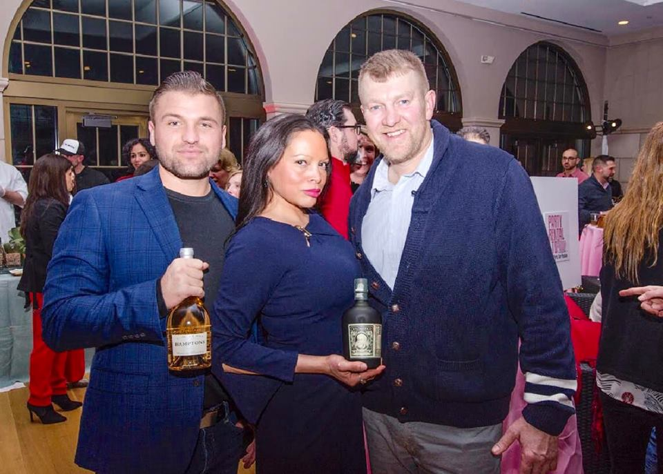 Guests Alex Siraco of Hamptons Rose, Rolise Rachel and Chris Carney of Diplimatico Photo by John Davenport